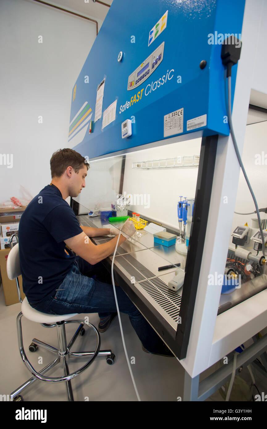 Biocev Kompetenzzentrum für Biotechnologie und Biomedizin, ein Projekt für 2,3 Milliarden Kronen, die Stockbild