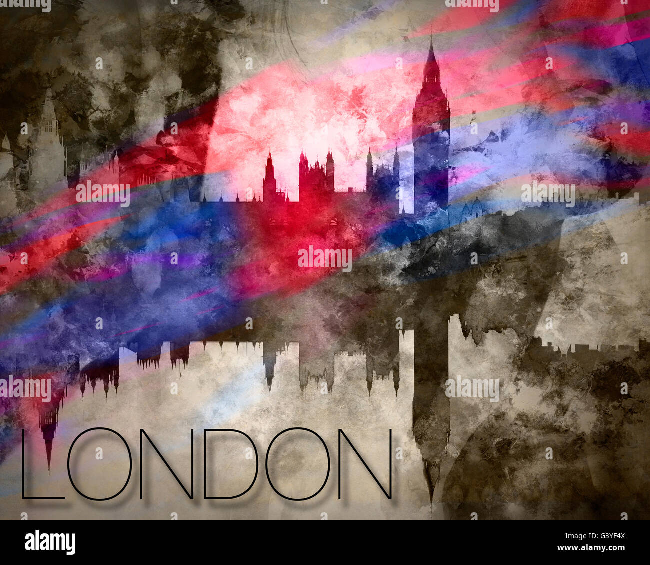 DIGITALE Kunst: London Stockbild