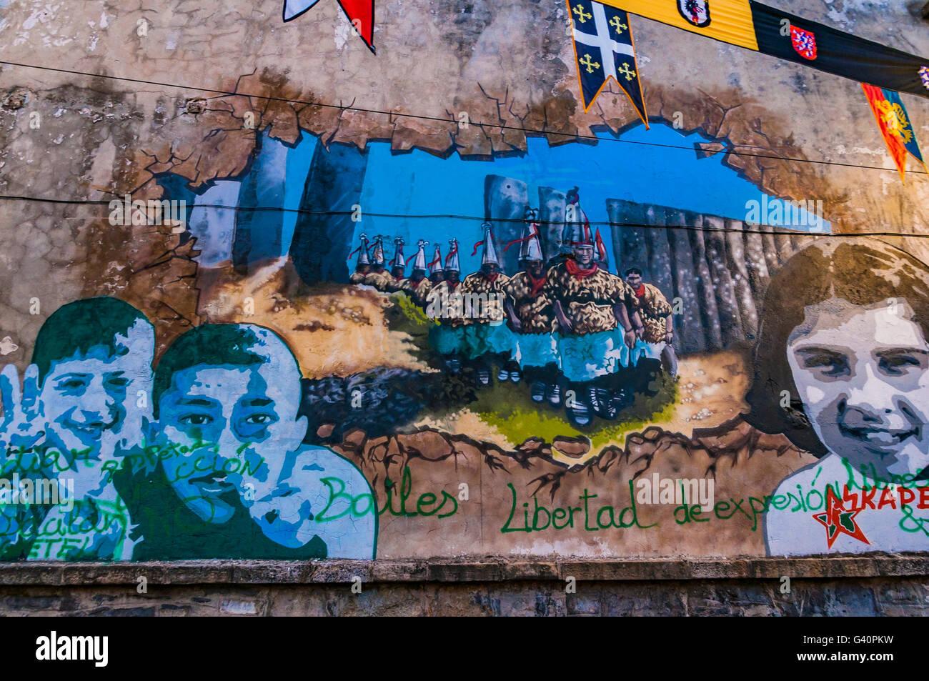 Wandbild Route von Vitoria. Vitoria-Gasteiz, Álava, Baskisches Land, Spanien, Europa Stockbild