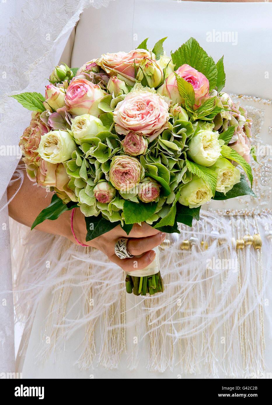Beloeil Belgien 18 Juni 2016 Brautstrauss Ankunft Ehe Von Guillaume