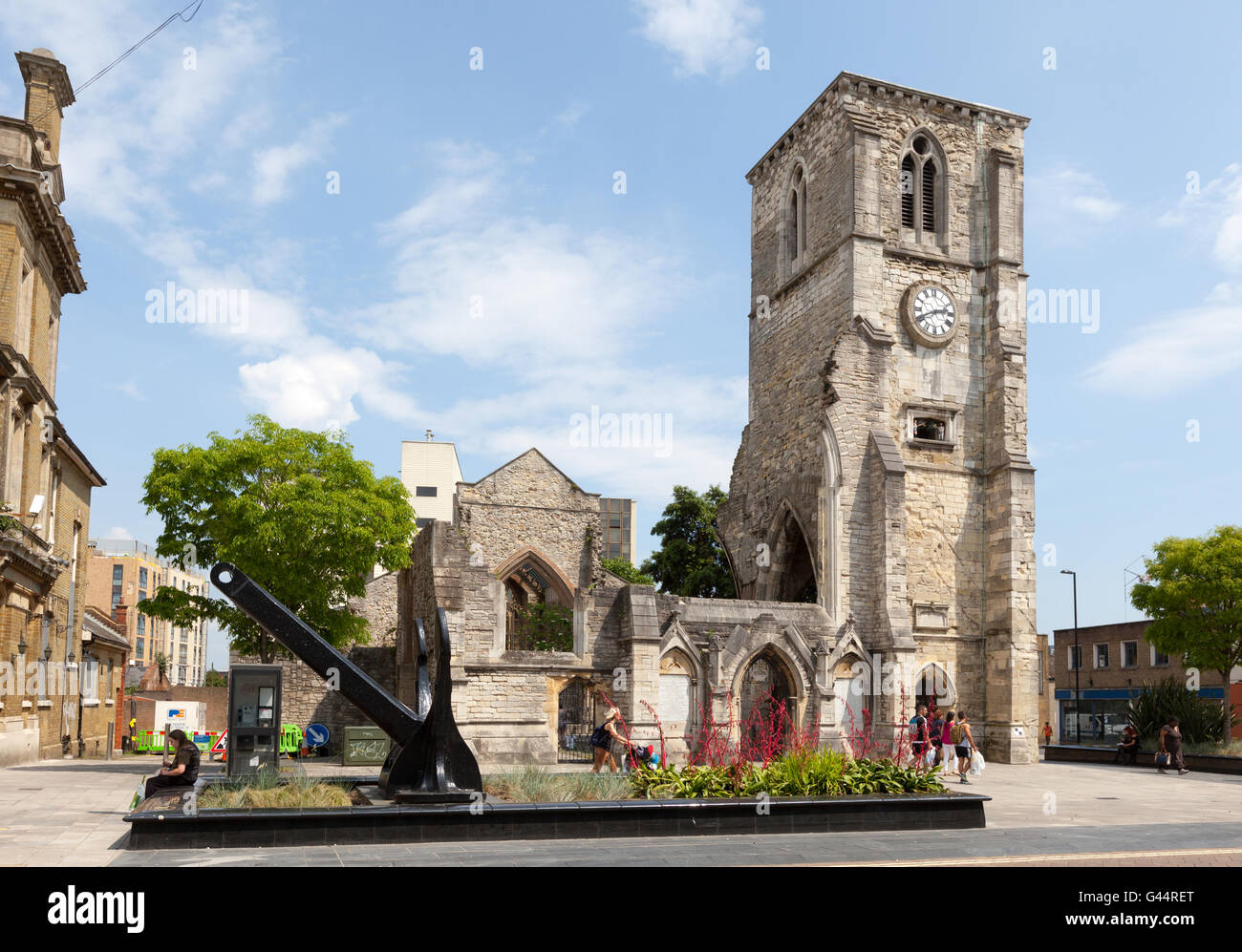 Holy Rood Church in Southampton, Hampshire, UK Stockbild