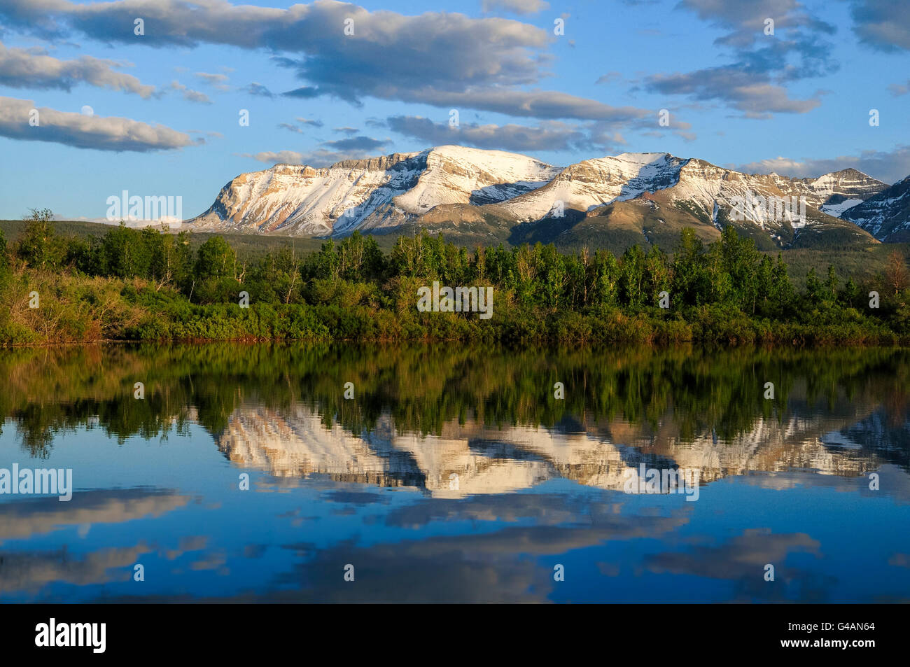 Sofa-Berg, Waterton Lakes Nationalpark, Alberta Stockfoto