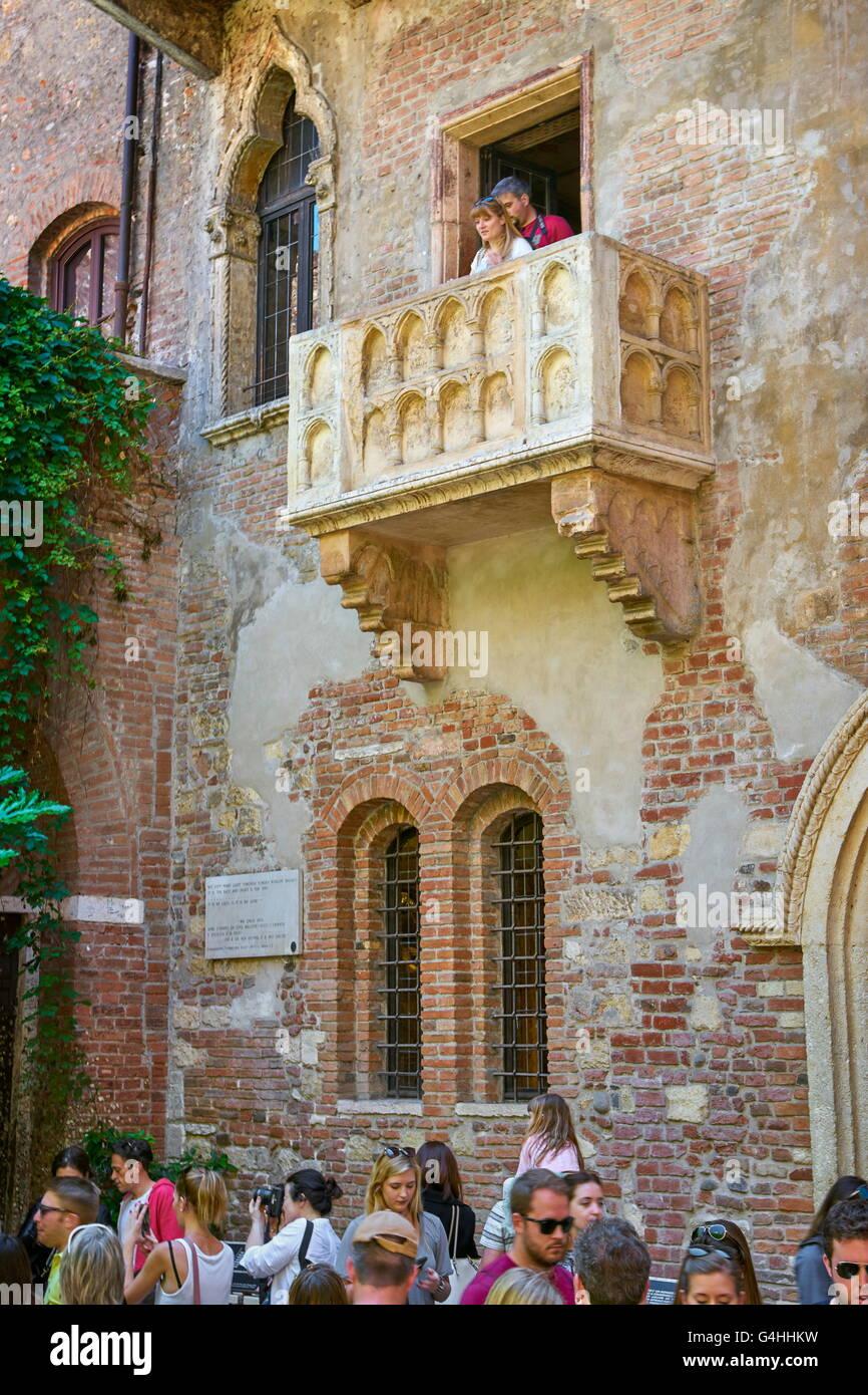 Romeo Und Julia Balkon Altstadt Von Verona Venetien Italien