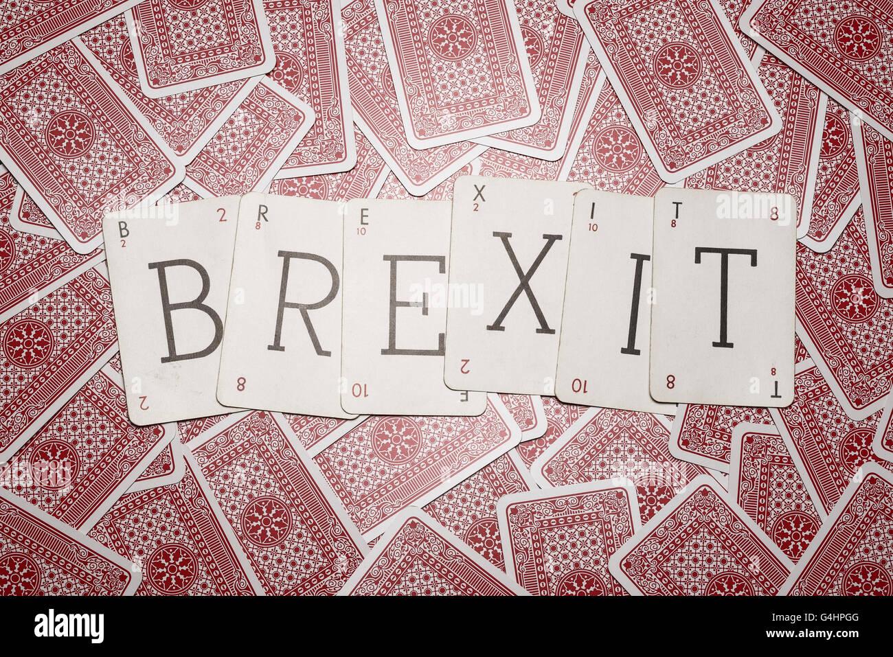 Still Life Studio Konzept Bild für das UK-Referendum über die EU-Mitgliedschaft Stockbild