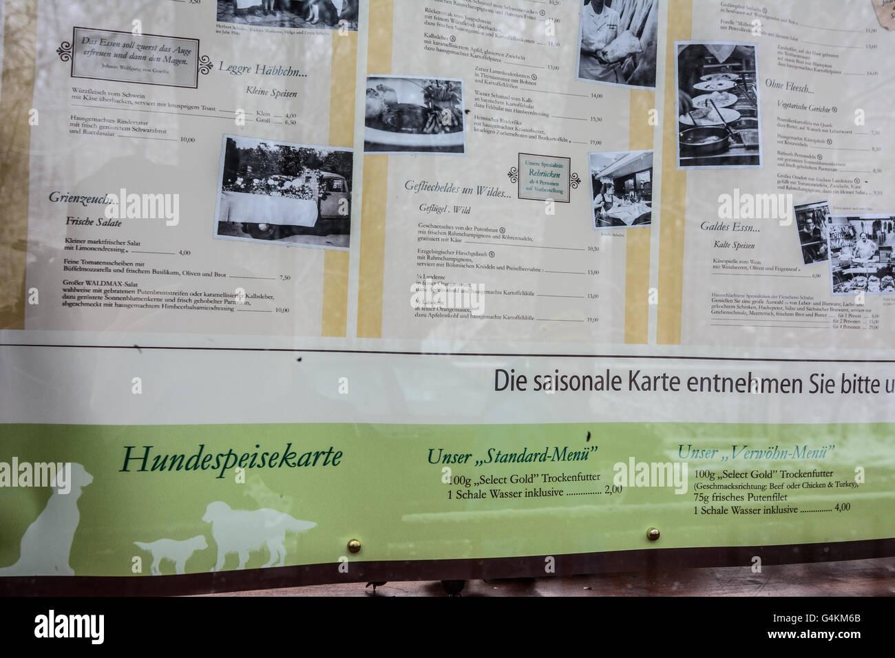 Cafe Neustadt Menu
