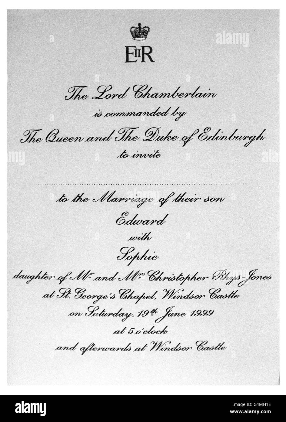 Königliche Hochzeitseinladung