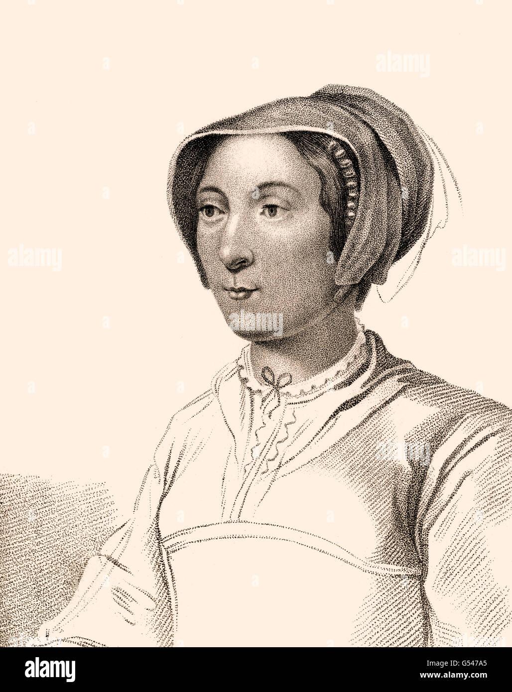 Lady Russell, Elizabeth Russell, eine englische Adelige, Née Elizabeth Cooke, 1528-1609 Stockbild
