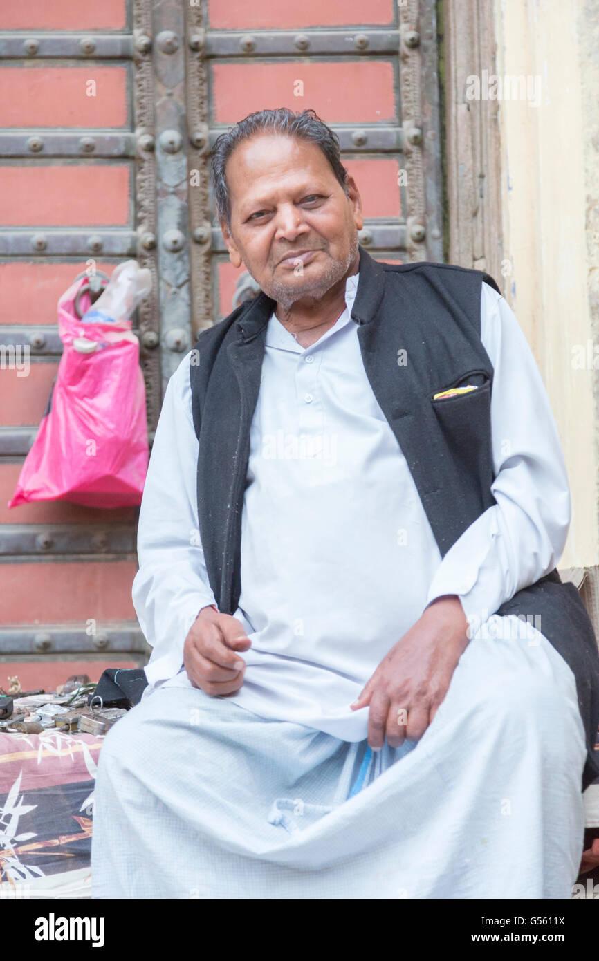Porträt, Mandawa, Rajasthan, Indien Stockbild