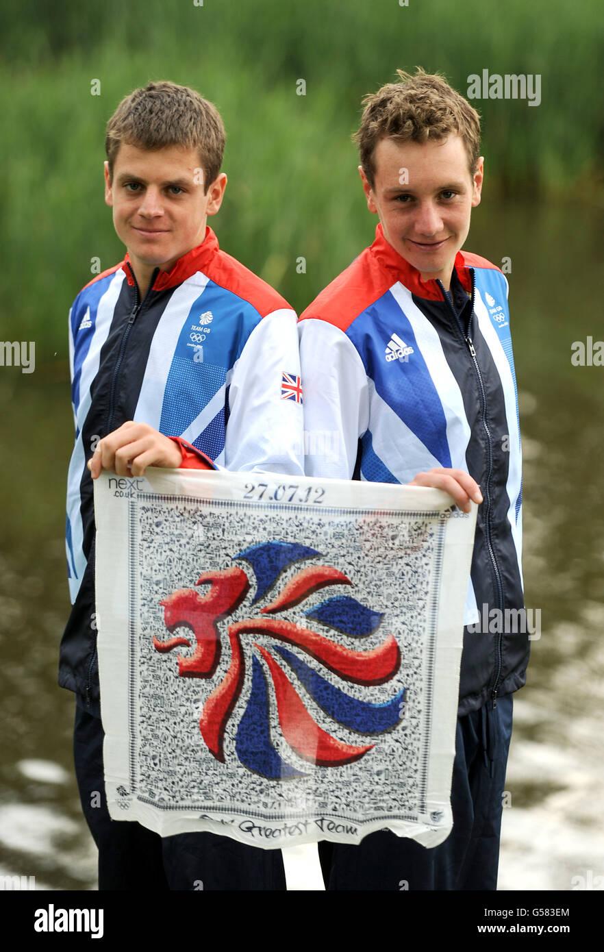 Olympische Spiele - Olympiade 2012 in London - Team GB Kitting heraus - Triathlon - Loughborough Universität Stockfoto