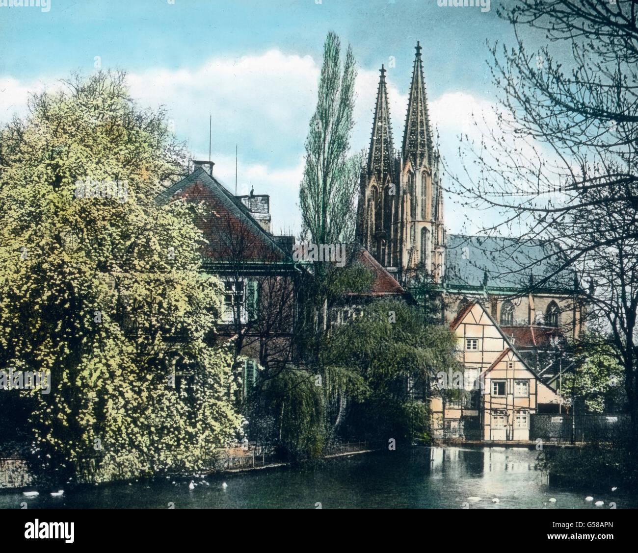 Sterben Sie Kirche St. Maria Zur Wiese (Wiesenkirche) ist in Den Jahren 1314 1376 Erbaut Und ist der Bedeutendste Stockbild