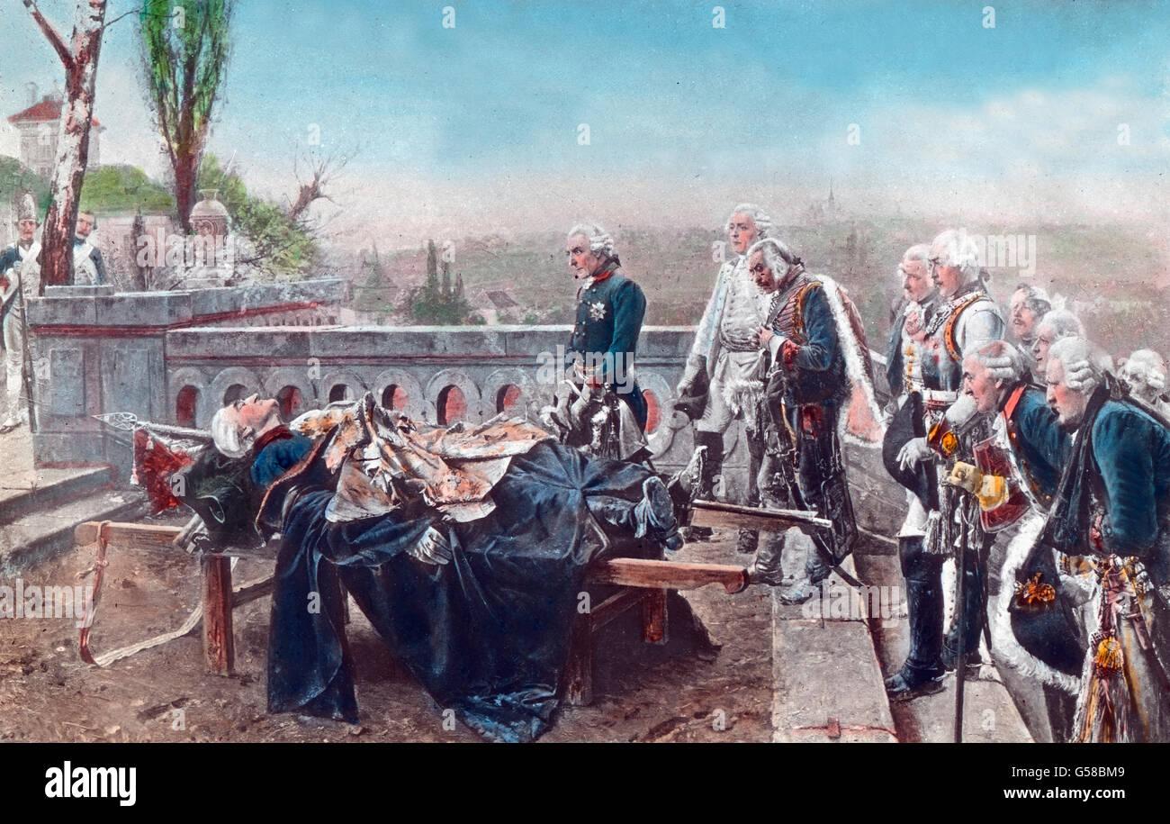 Friedrich Der Grosse Eine Hinaus Eines Seiner Heerfhrer Im Siebenjhrigen Krieg Deutschland Preussen
