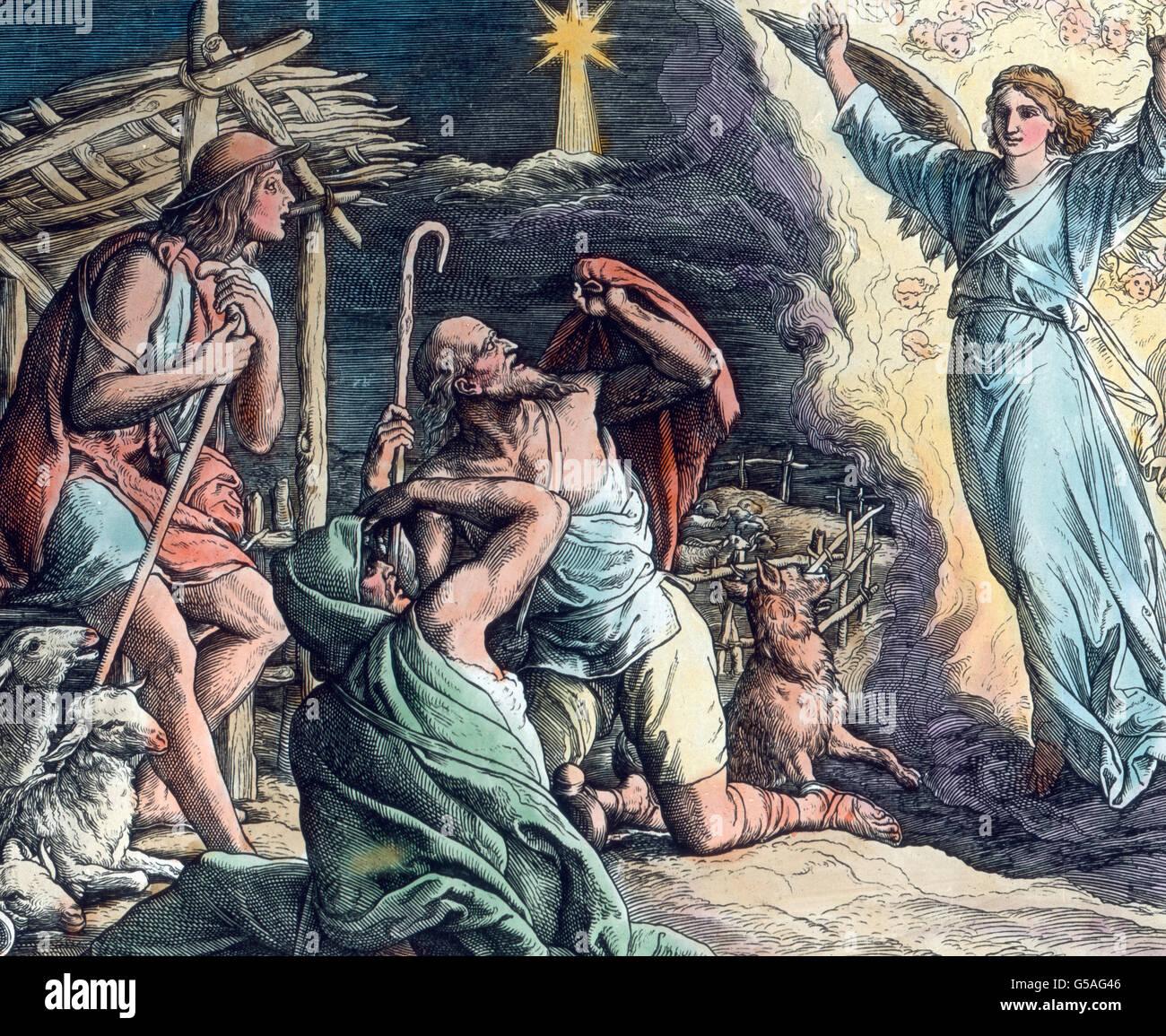 Hirten Bilder Weihnachten.Ein Engel Verkündet Den Kann Sterben Frohe Beschaffenheit