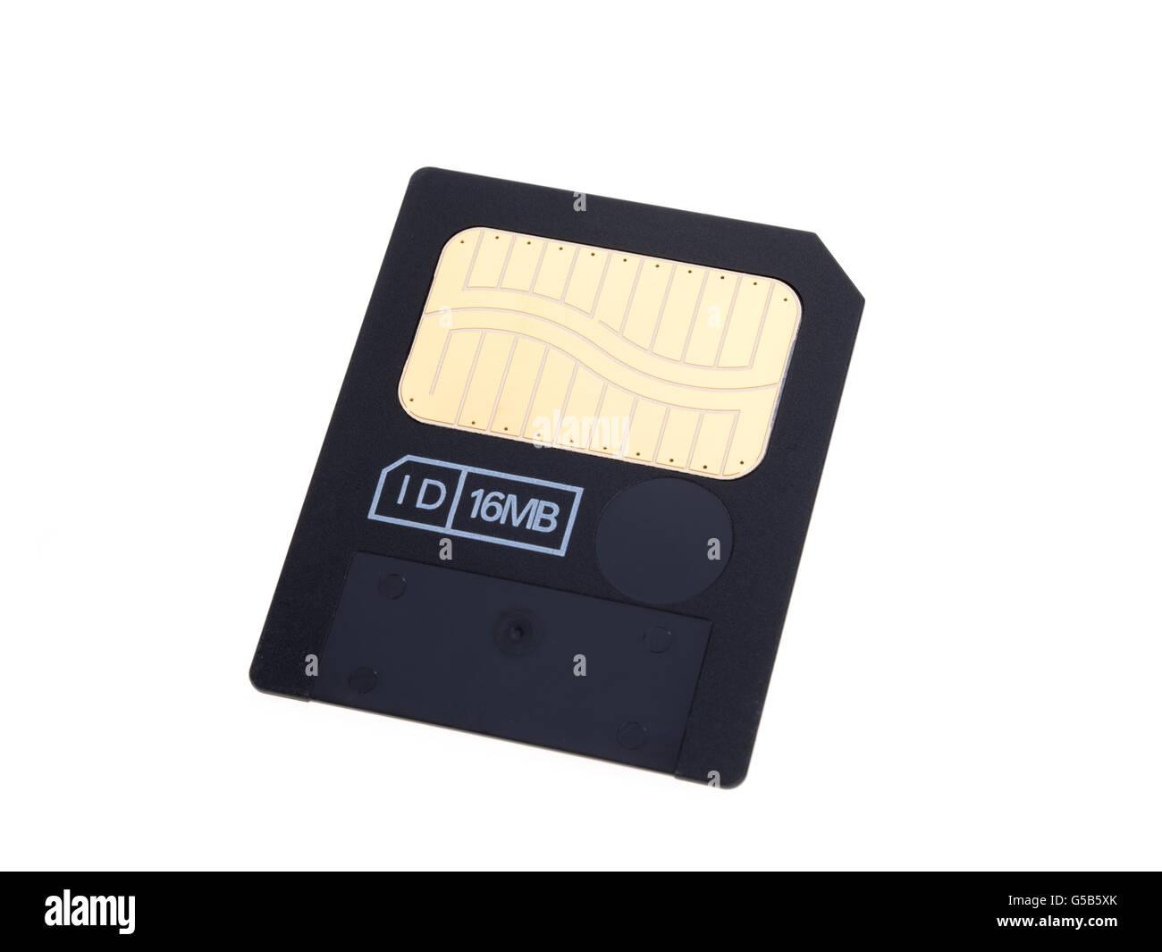 Smart Media 16MB Speicherkarte Stockbild
