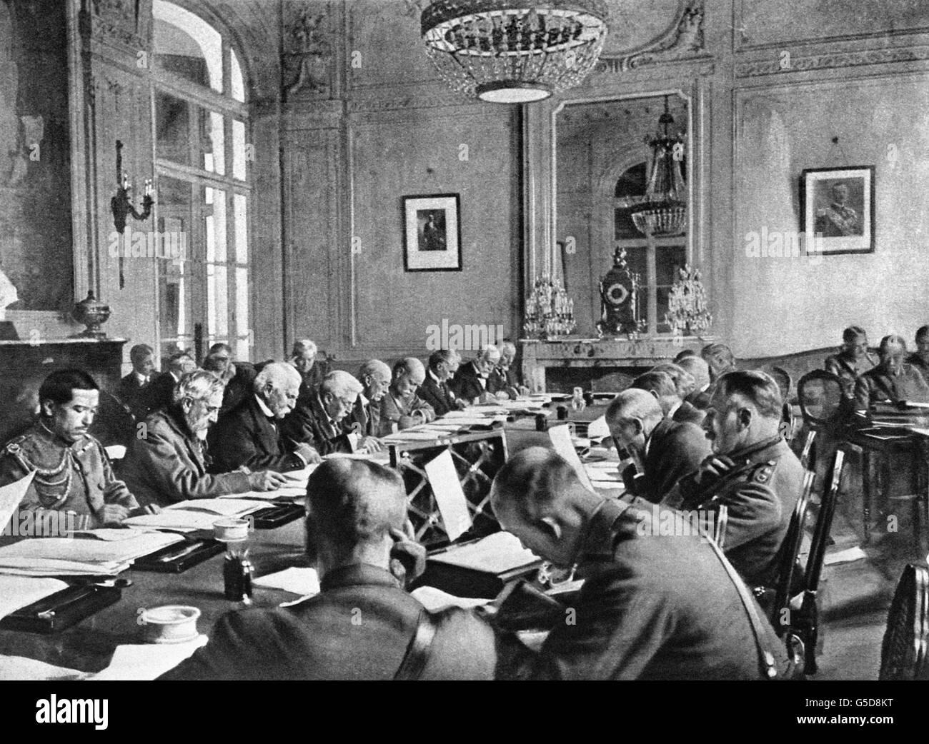 Erster Weltkrieg Vertrag Von Versailles 1919 Stockfoto Bild