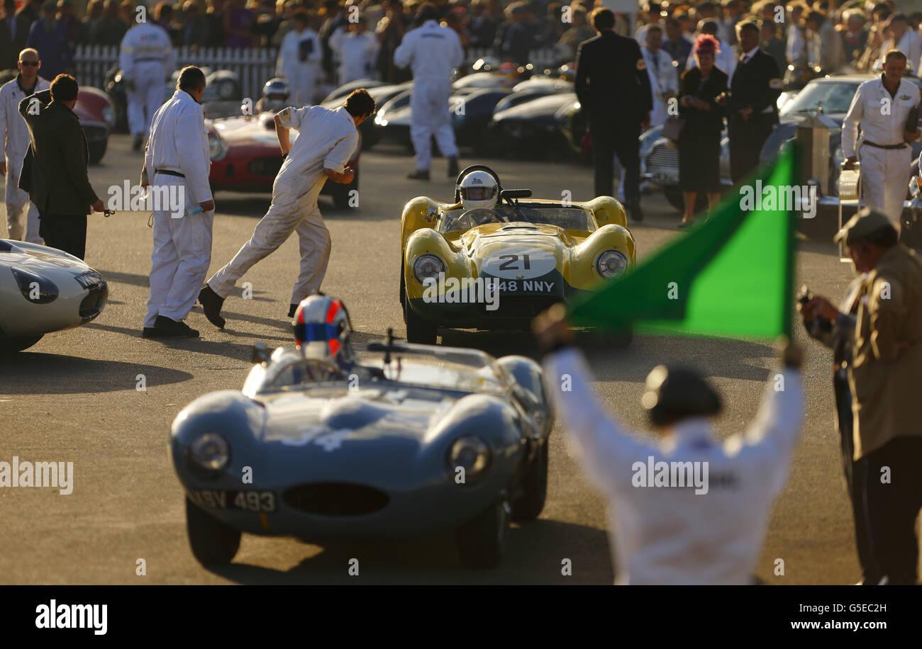 Goodwood Revival historische motor Rennen treffen Stockbild