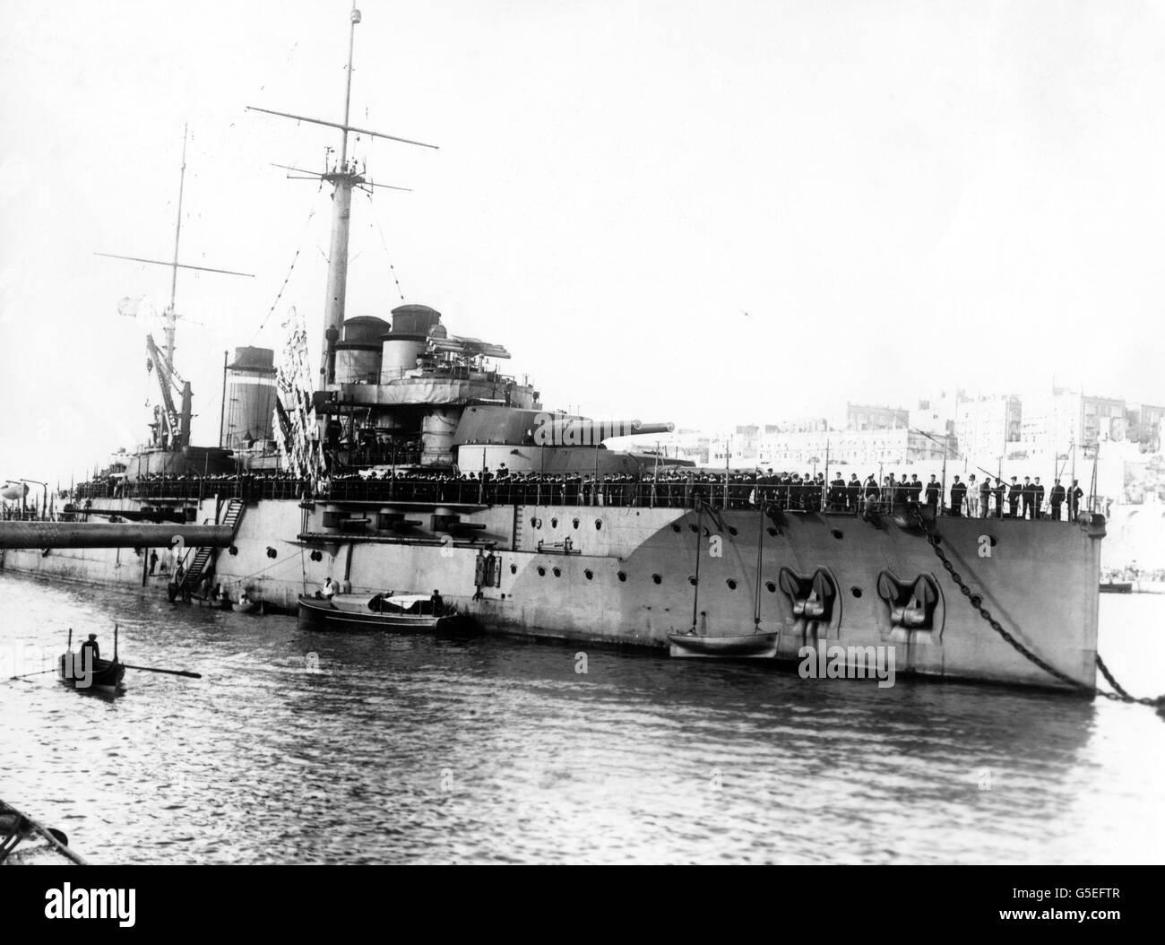World War One - französische Marine - La Frankreich Stockbild