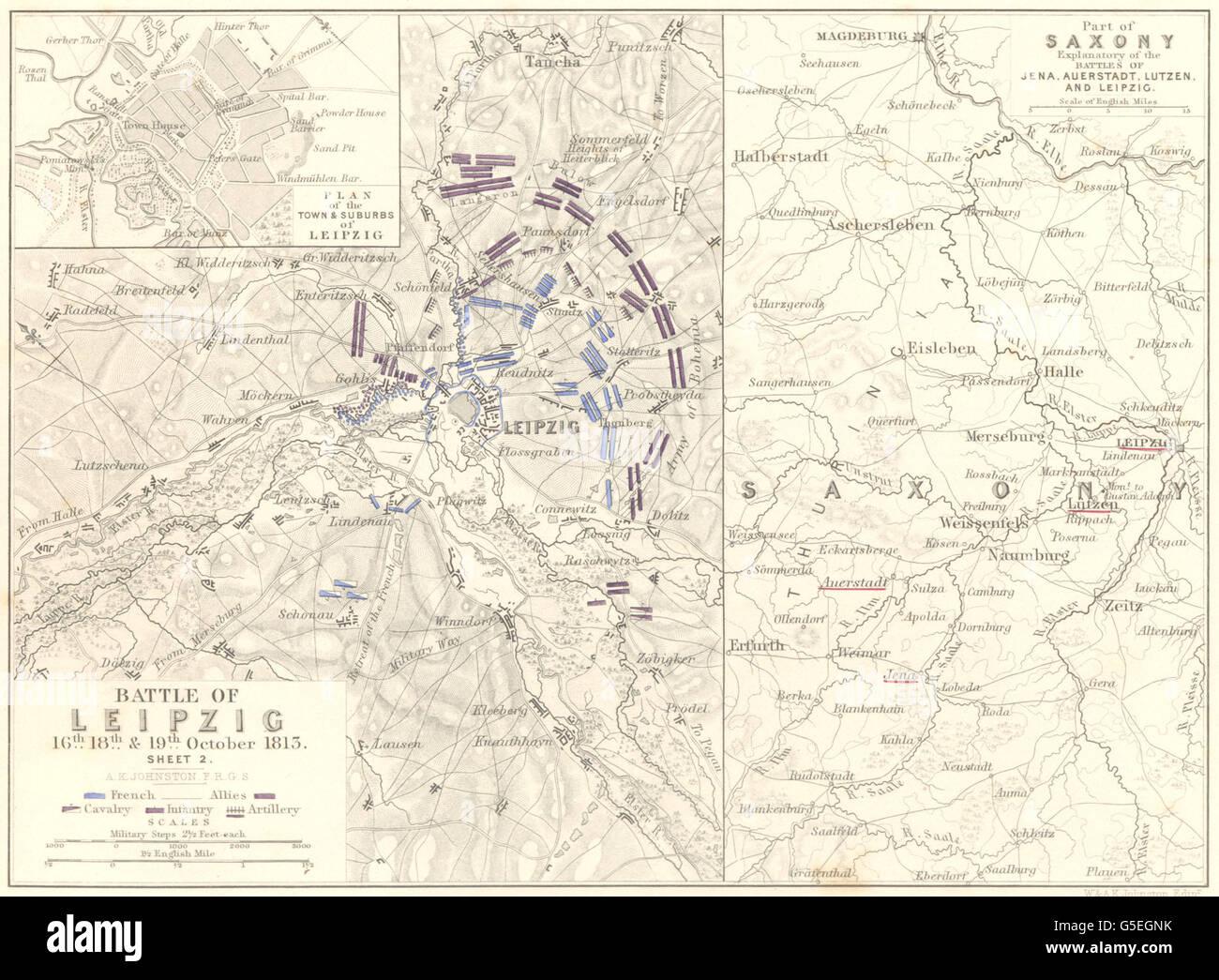 Leipzig Karte Sachsen.Volkerschlacht Bei Leipzig 16 19 Oktober 1813 Blatt 2