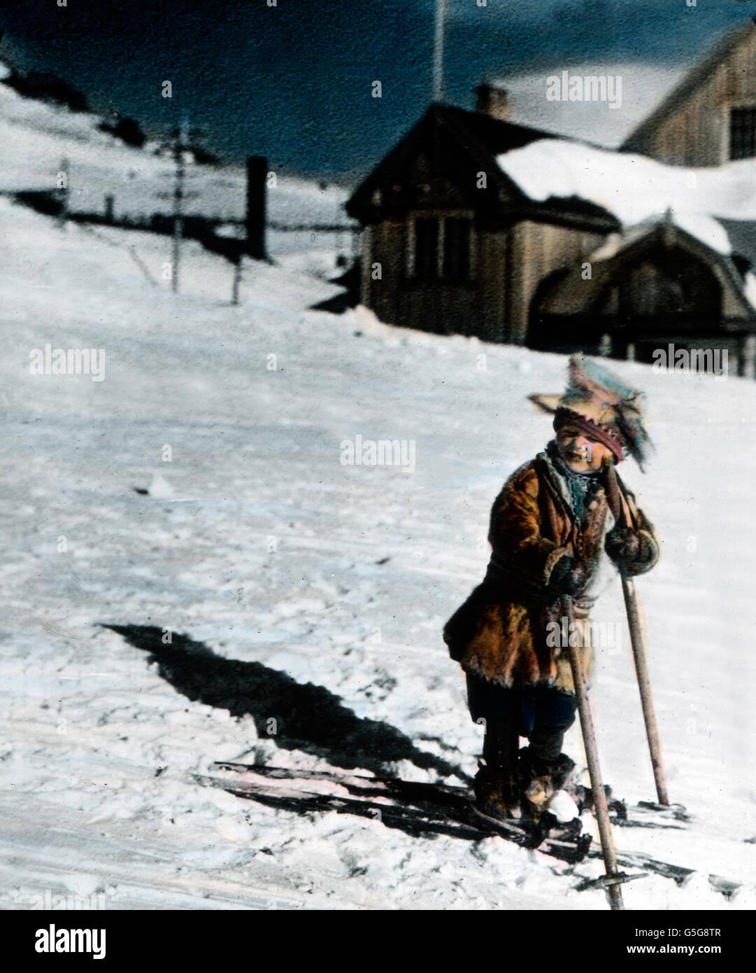 Kleiner Skifahrer Ein Kleiner Junge Skifahren Kind Junge Spaß