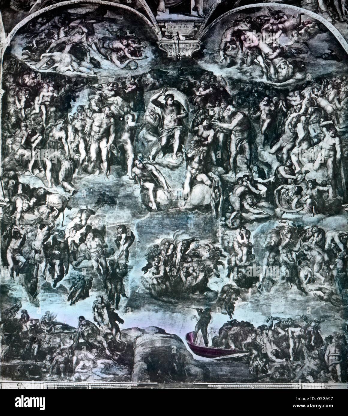 Das Jüngste Gericht Von Michelangelo Jüngstes Gericht Gemälde Von