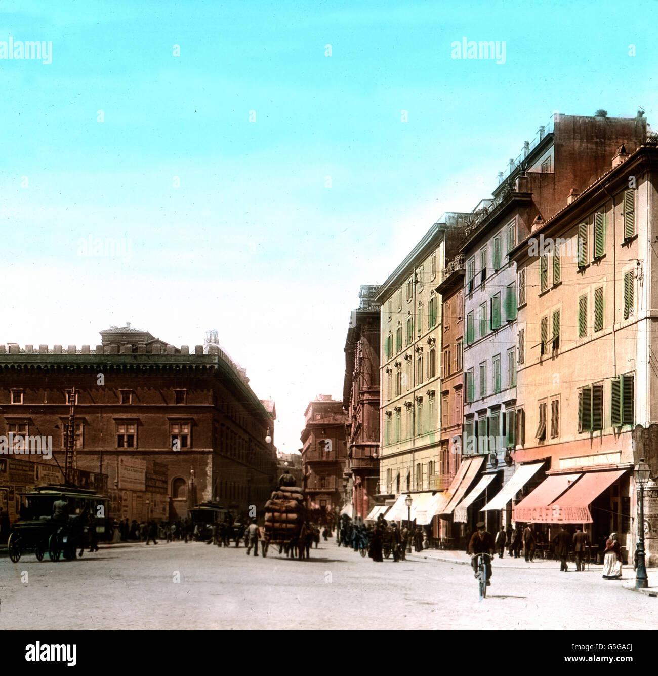 Venezischer Platz in Rom Venedig Platz in der Stadt Rom. Platz ...
