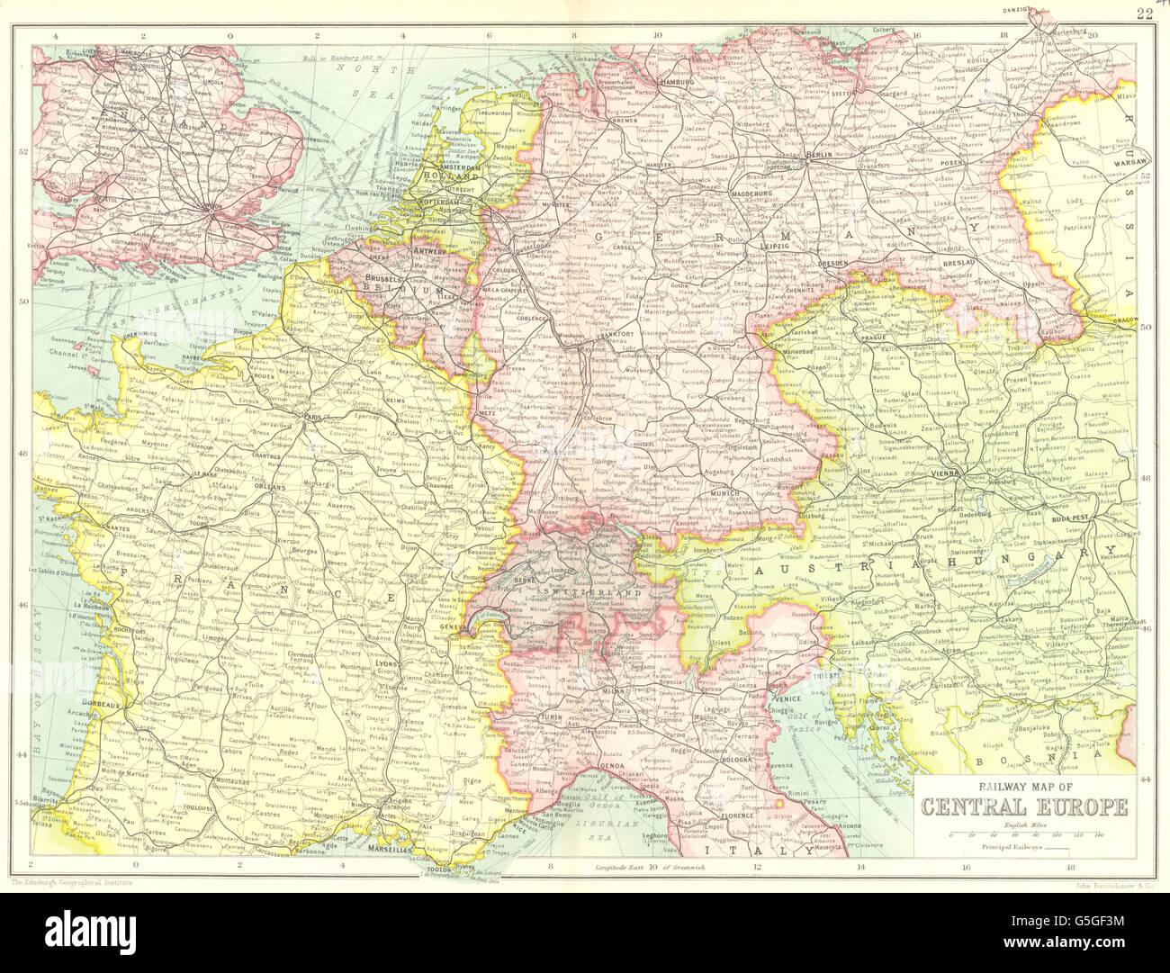 Deutschland Frankreich Karte.Central Europe Railways Frankreich Deutschland österreich Ungarn