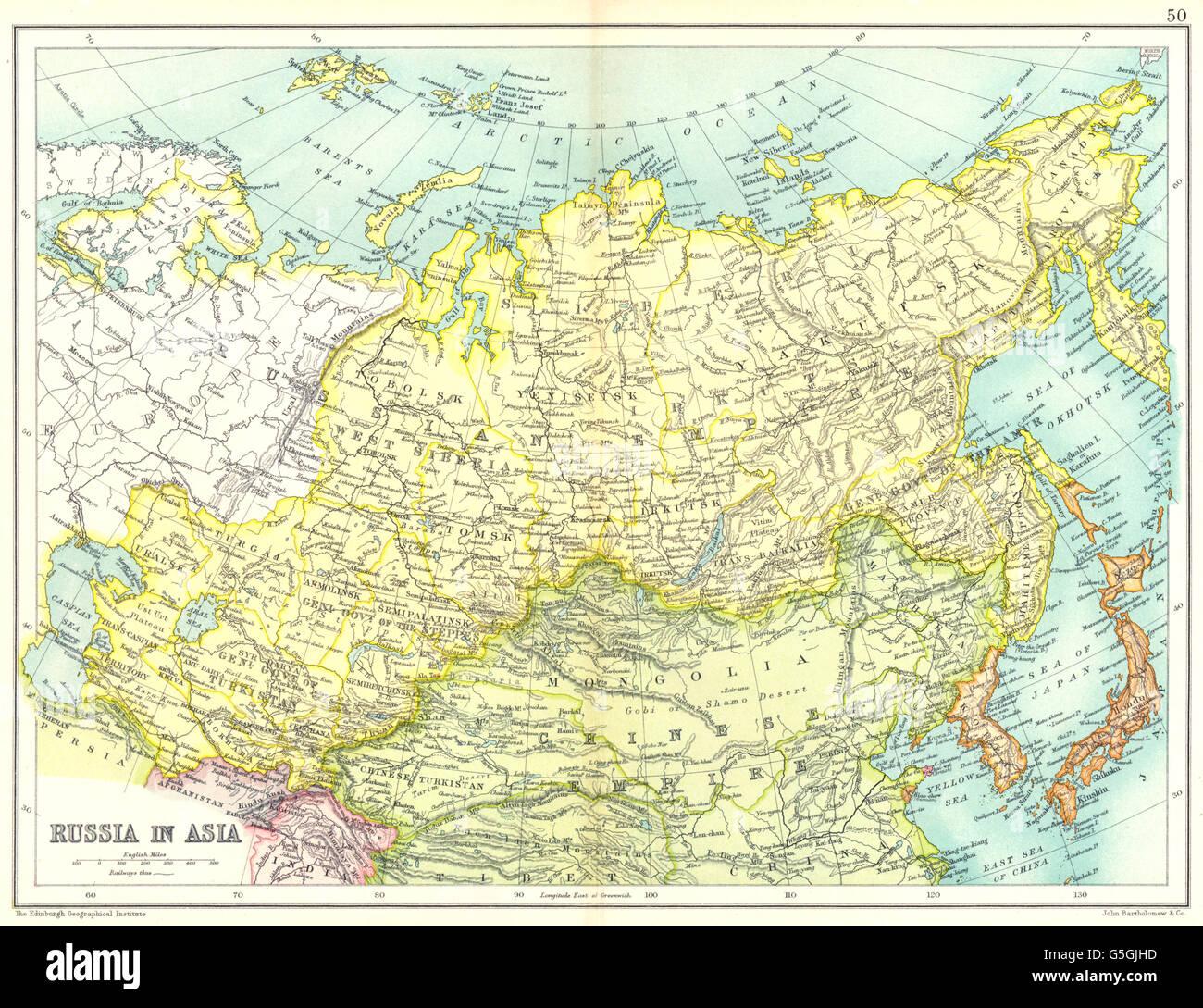 Karte Russland Asien.Russland In Asien Sibirien China Korea Japan Irkutsk