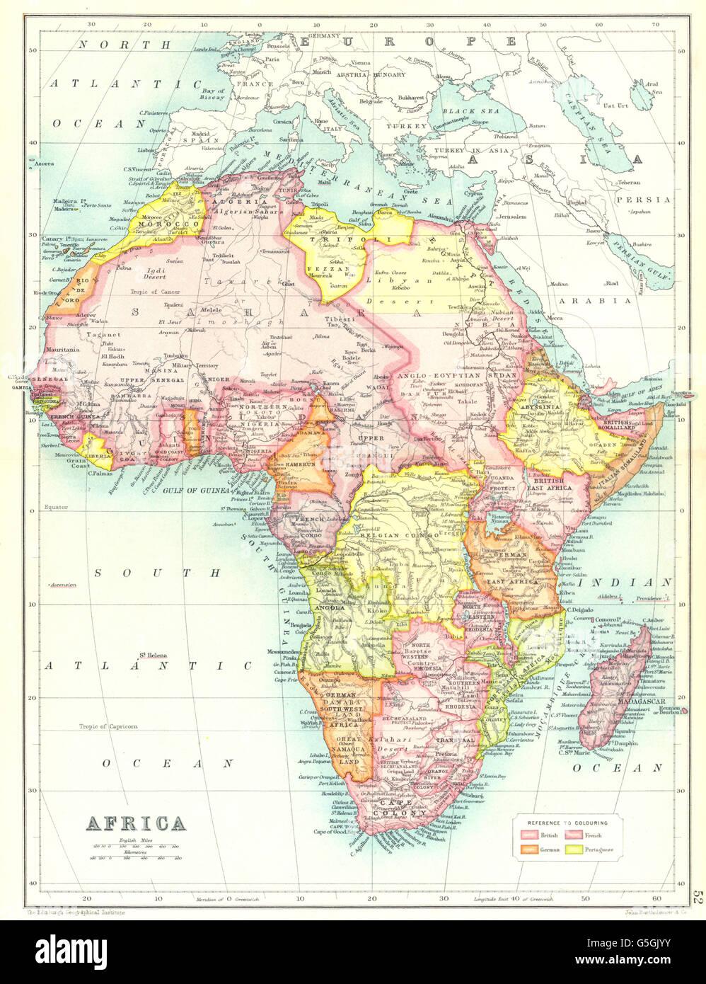 Karte Afrika Kolonien.Afrika Zeigt Britische Deutsche Franzosische