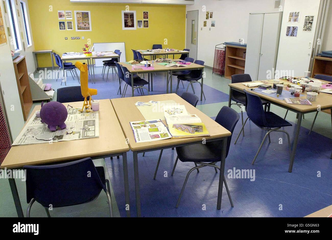 Einwanderung Haftanstalt Harmondsworth / Kunstraum Stockfoto