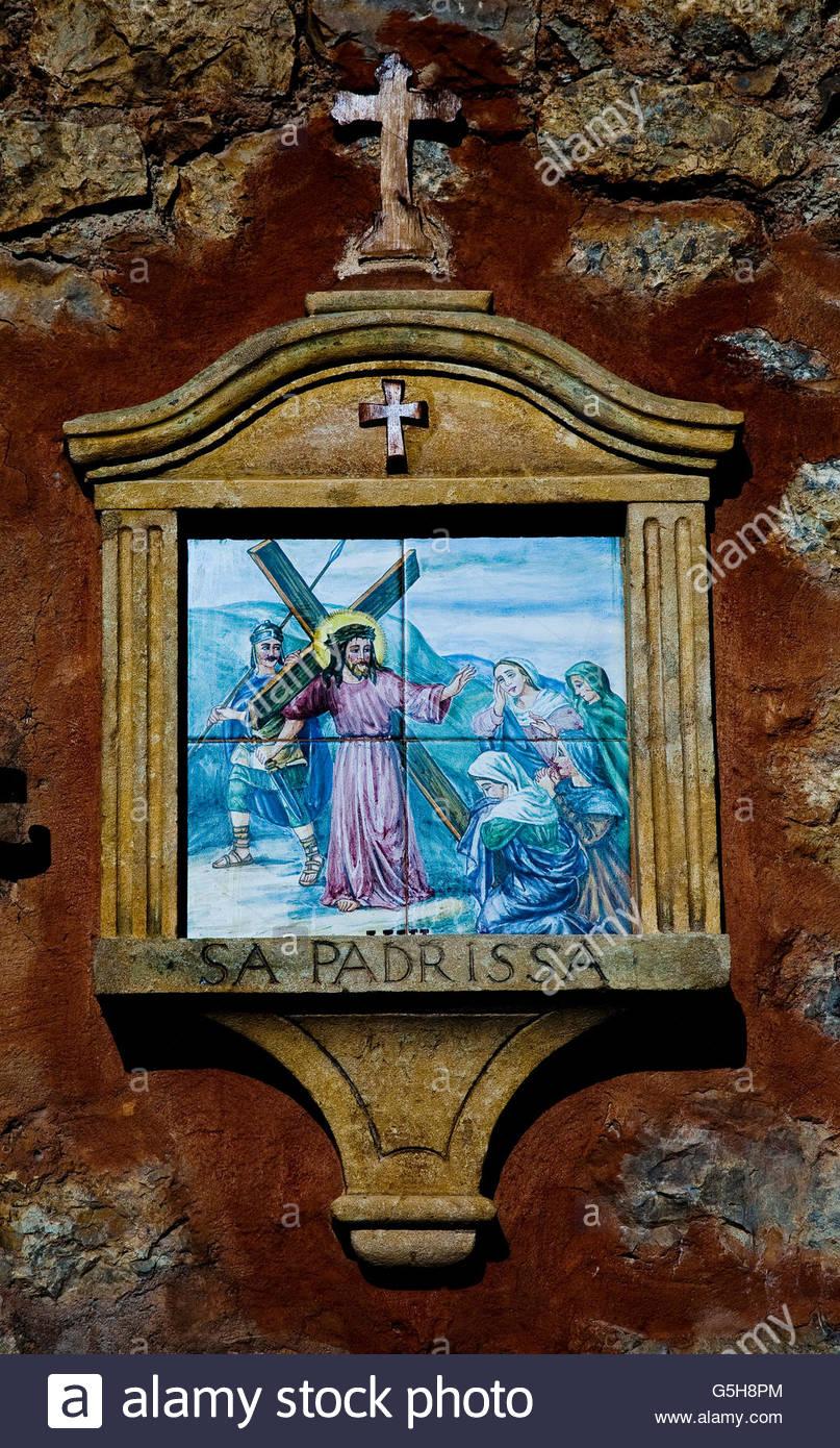 Religionen Wand Kunst Mallorca. Stockbild