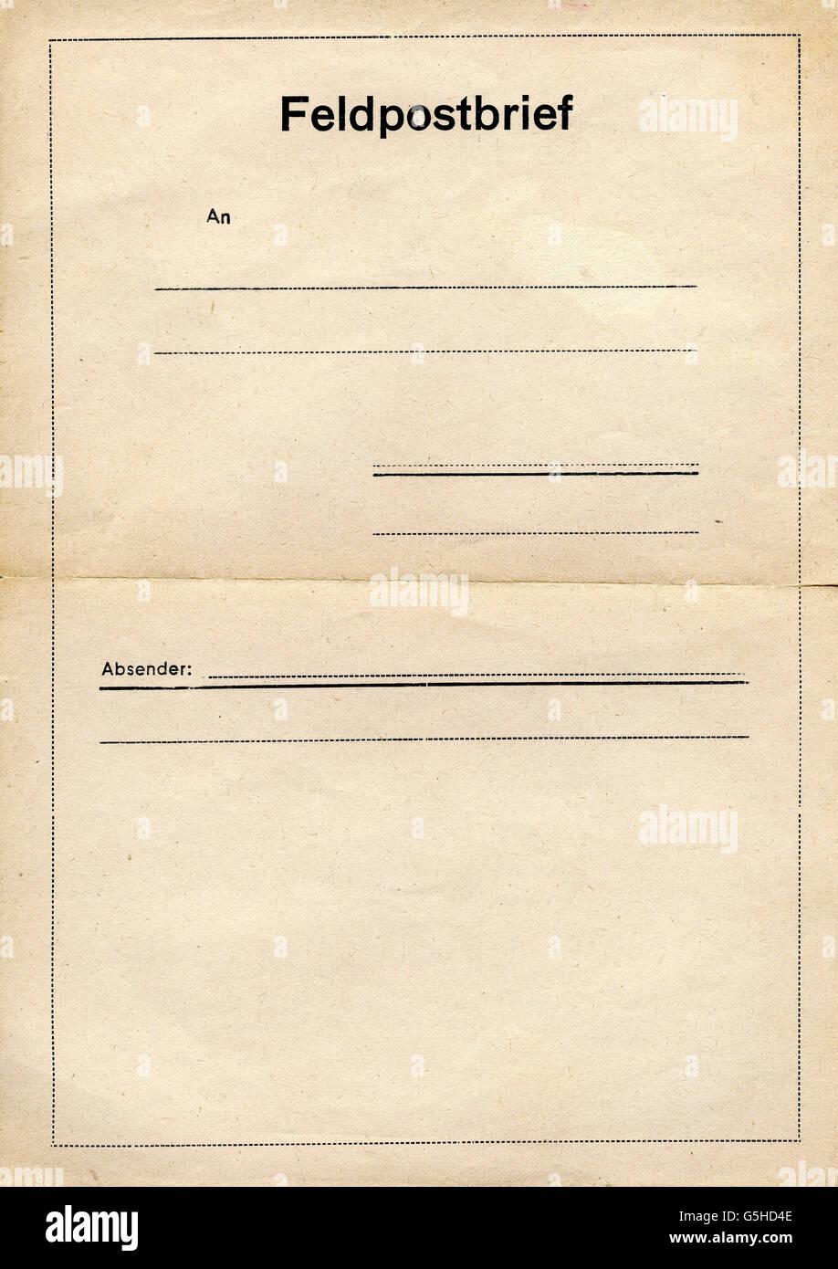 E Mail Formular Militärische Schreiben Deutschland Ca 1940