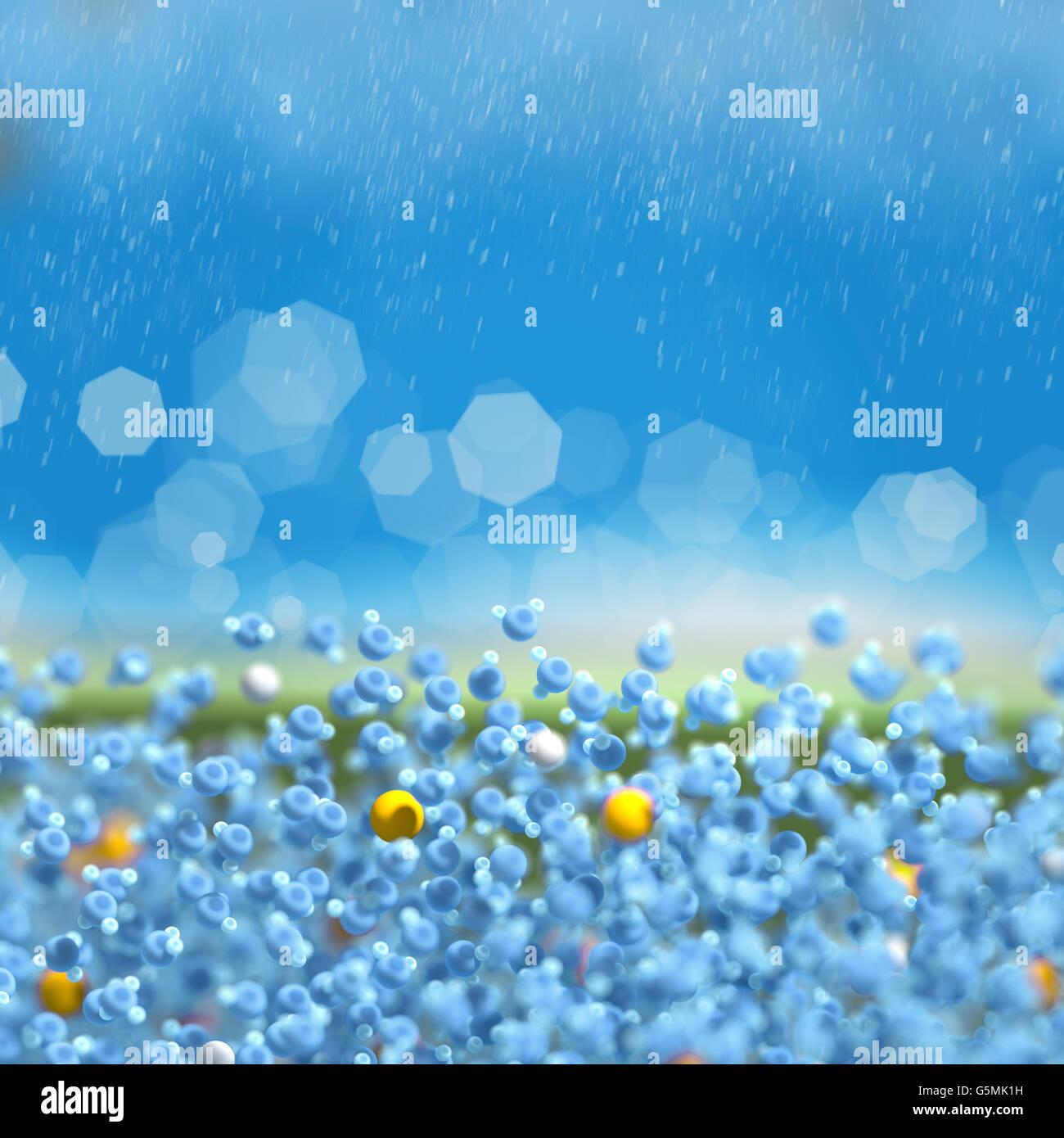 Wasser In Blau Ist Eine Chemische Verbindung Mit