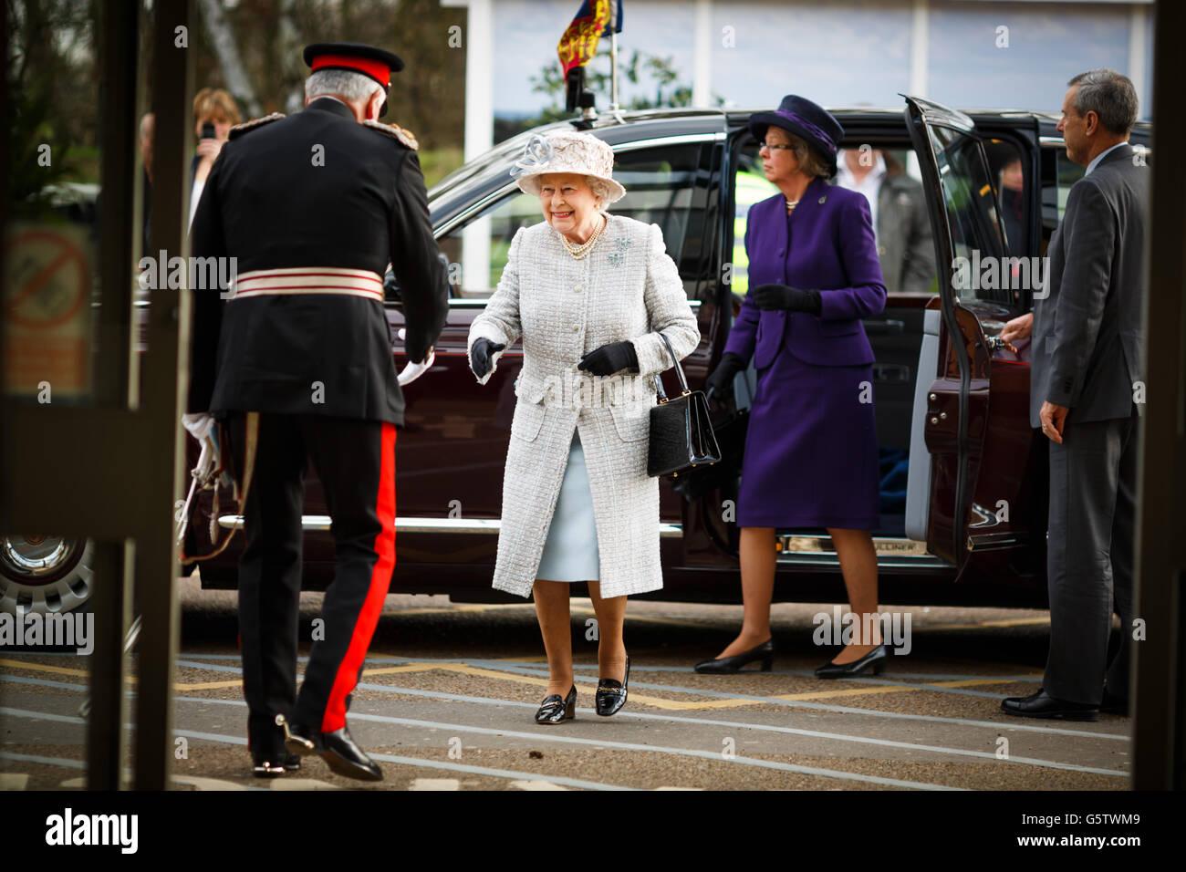 Königlicher Besuch in Krankenhaus der Königin-Elizabeth - Norfolk Stockbild