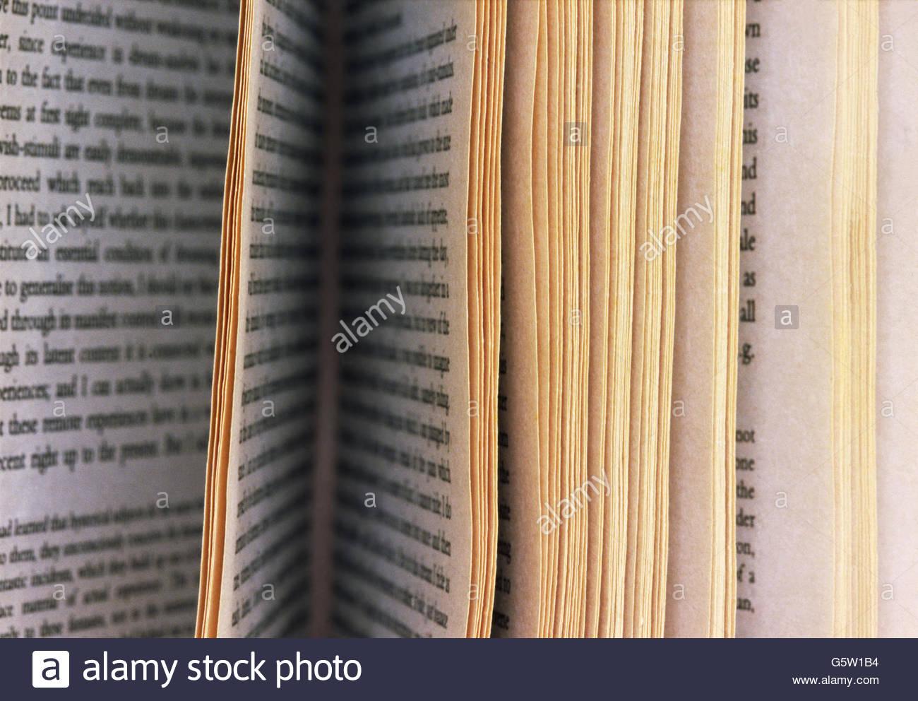 Buch Seite Detail Stockbild
