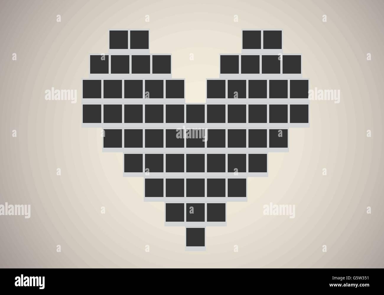 Polaroid-Bilderrahmen in Herzform Vektor Abbildung - Bild: 106886781 ...