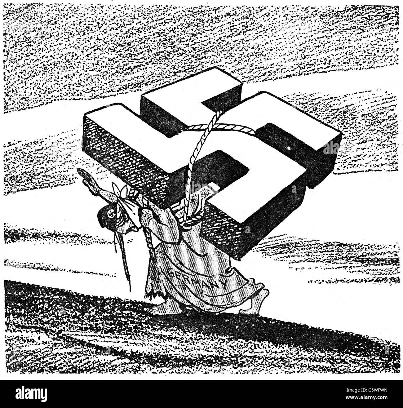 Nationalsozialismus Karikatur