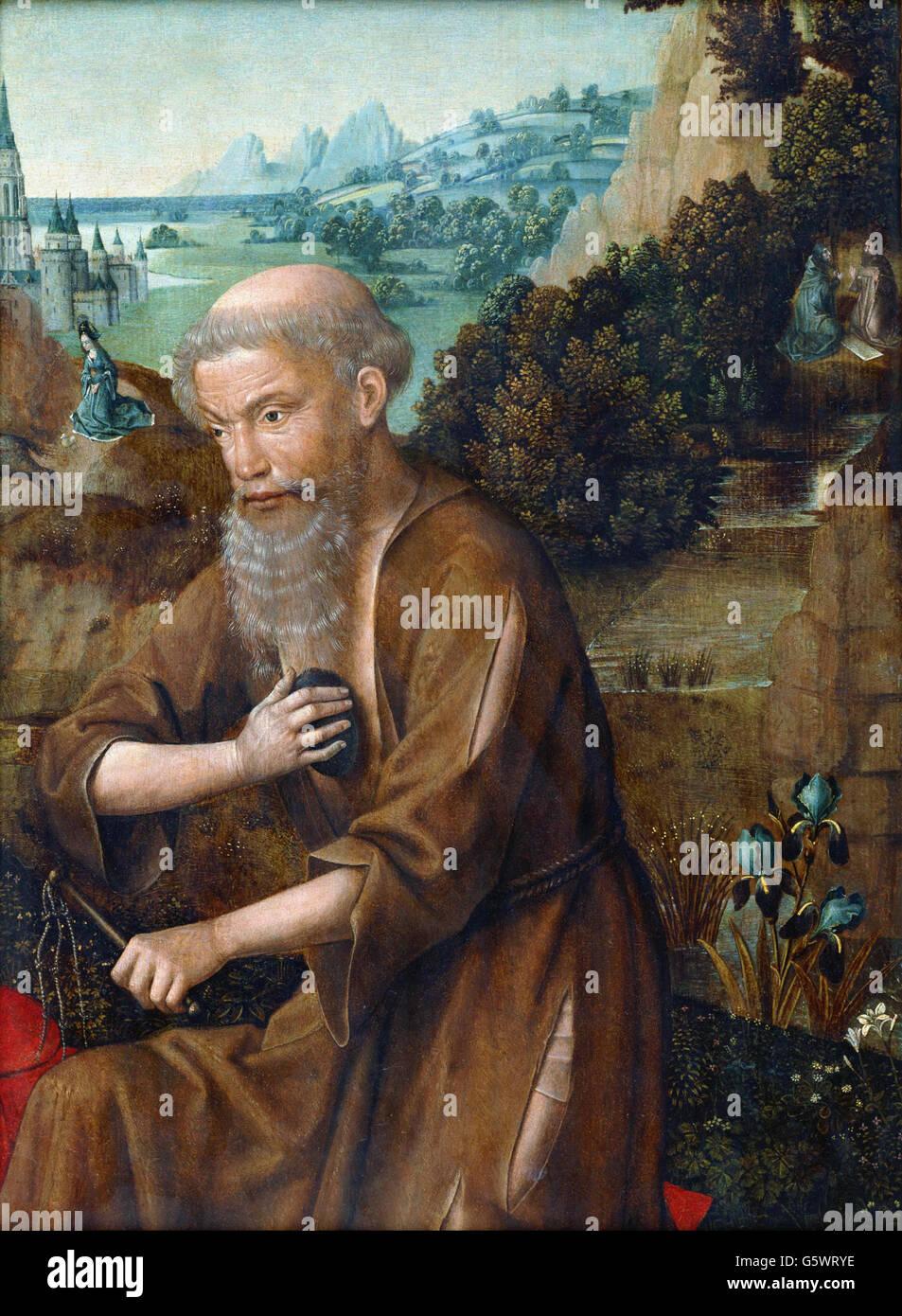 Meister der Legende von St. Lucia - St. Jerome- Stockbild