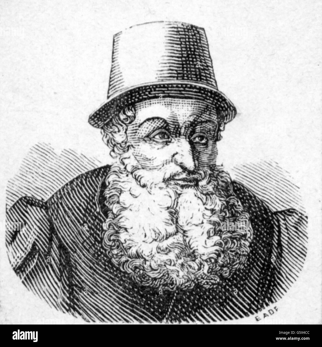 Adam Ries, 16. Jahrhundert Stockbild