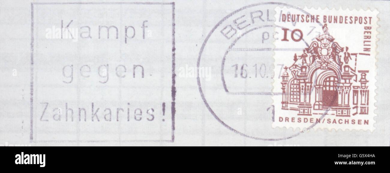 Medizin Zahnmedizin Briefmarke Der Deutschen Bundespost Berlin Mit