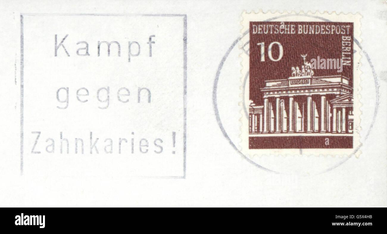 Medizin Zahnmedizin Additional Rights Briefmarke Der Deutschen