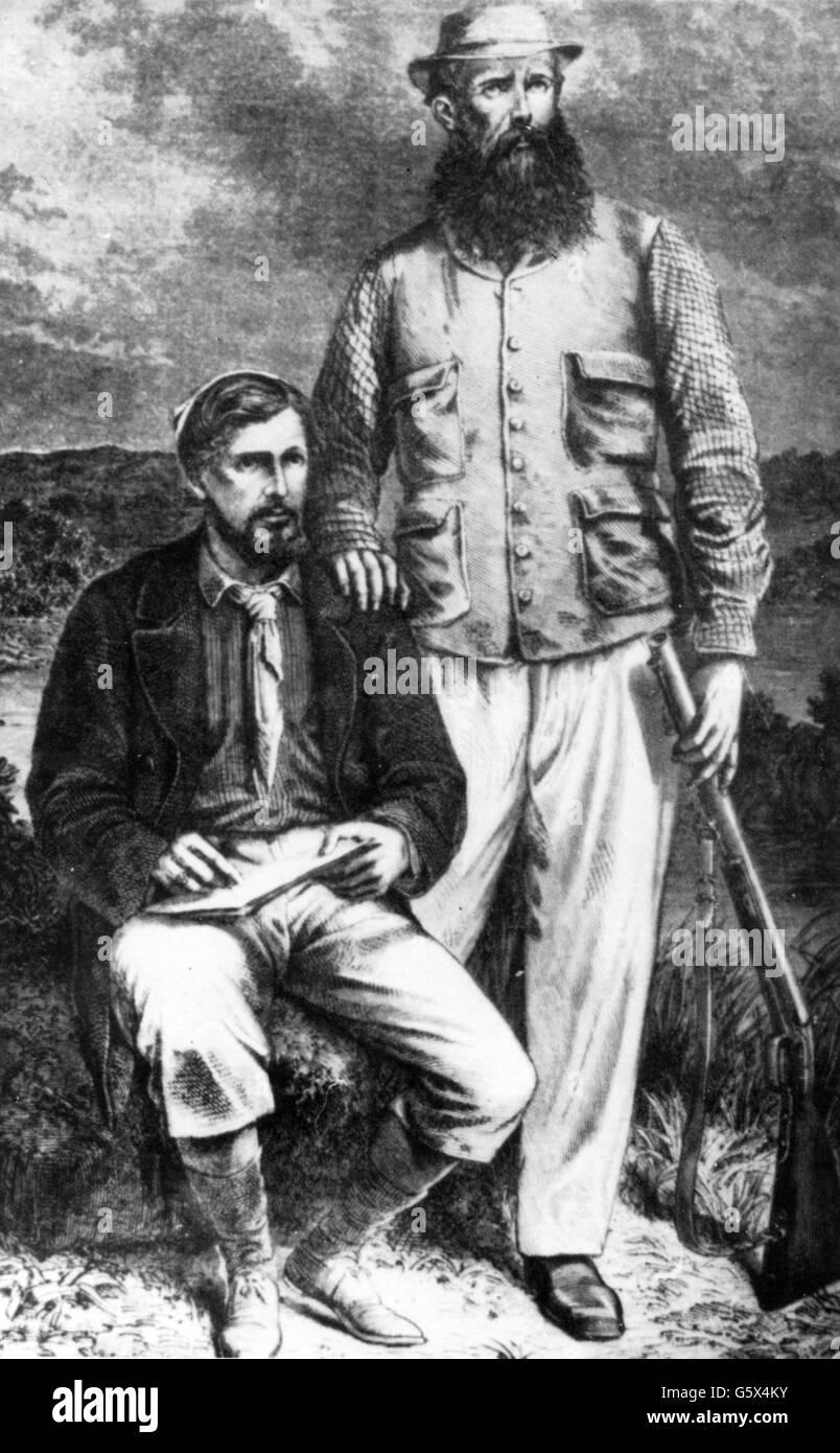 , John Hanning Speke, 4.8.1827 - 15.9.1864, British Explorer des afrikanischen Kontinents, volle Länge, mit Stockbild