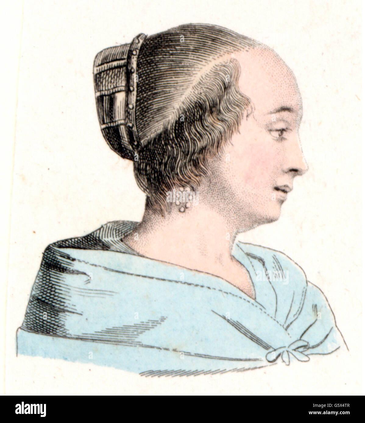 Mode 17 Jahrhundert Die Kopfbedeckung Eines Edlen Holländerin