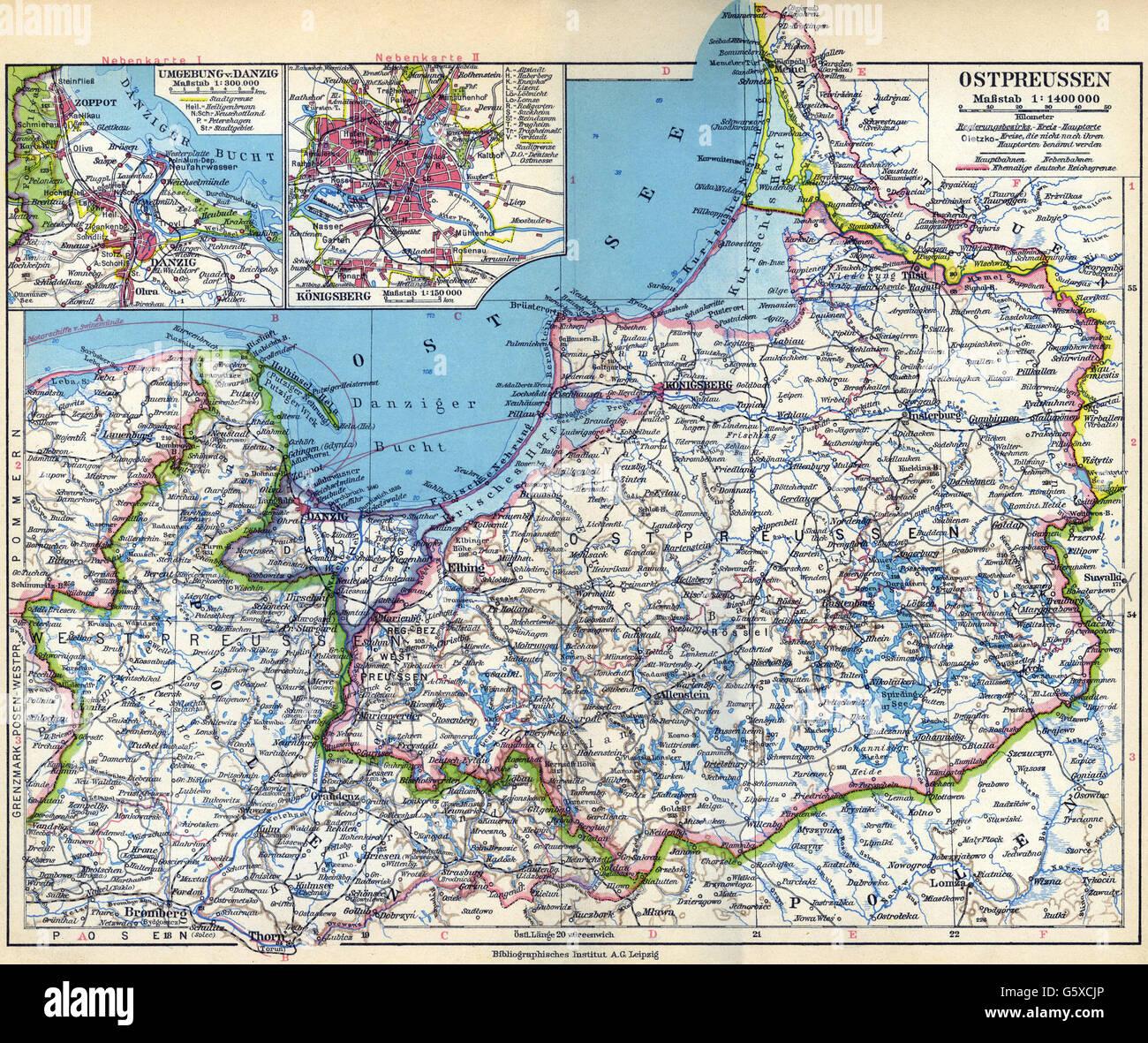 Karte Ostpreußen.Kartographie Karten Europa Deutschland Ostpreußen Königsberg