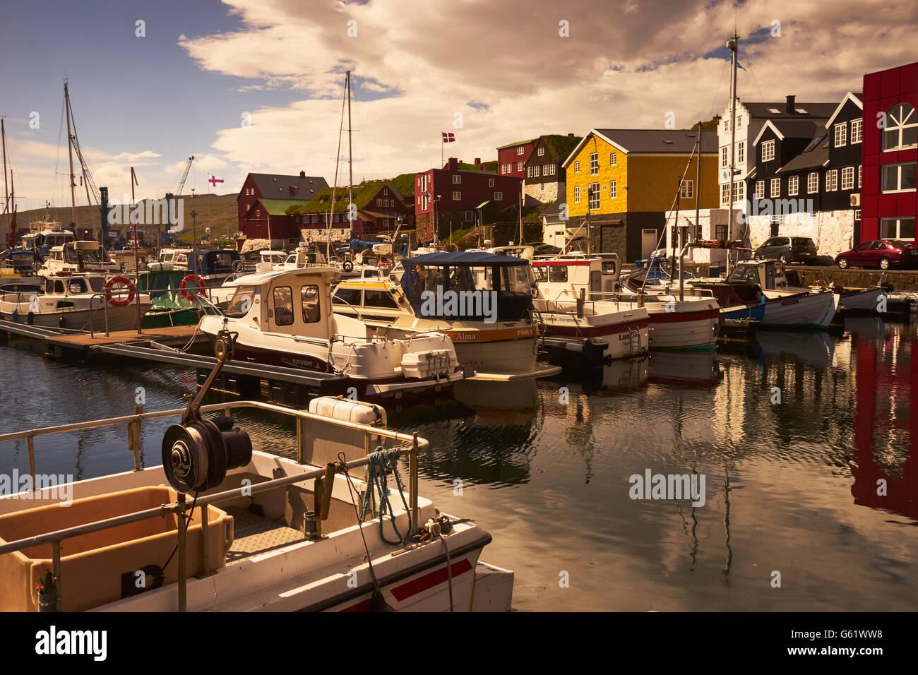 Hafen von Thorshavn, Faroer Inseln Stockfoto