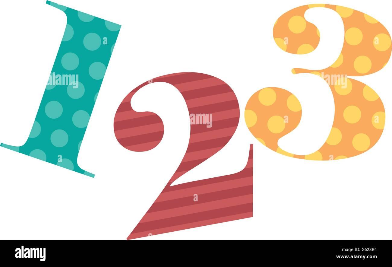200,20,20 Zahlen zeichnen isolierten Symbol design Stock Vektorgrafik ...