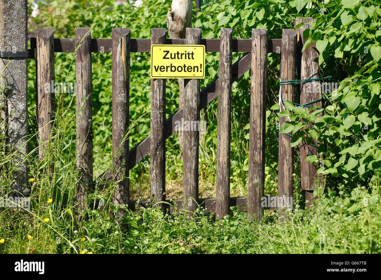 Gartenzaun Holzzaun Tor und melden Sie keinen Eintrag Bayern