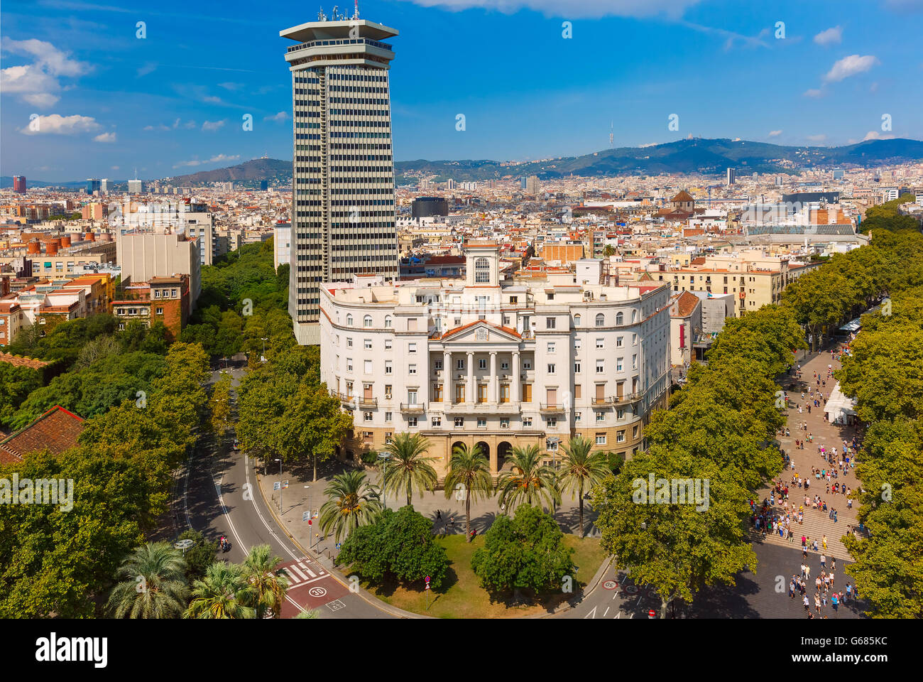 La Rambla in Barcelona, Katalonien, Spanien Stockbild