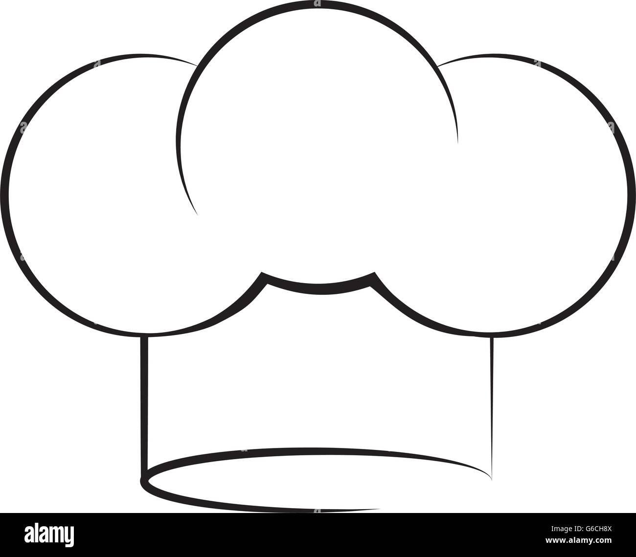 Koch-Hut-Symbol. Menü und Küche Design. Vektorgrafik Vektor ...
