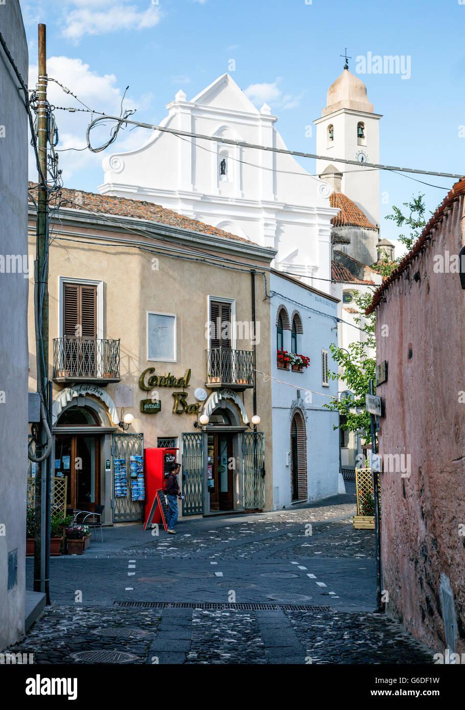 Gepflasterten Straßen Orosei-Sardinien-Italien Stockbild