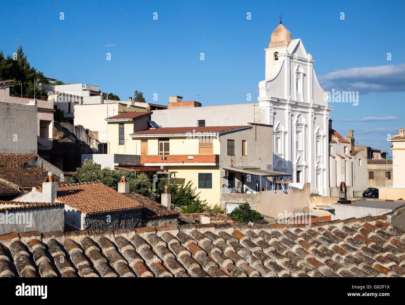 Kirche Chiesa Di San Giacomo-Orosei-Sardinien-Italien Stockbild