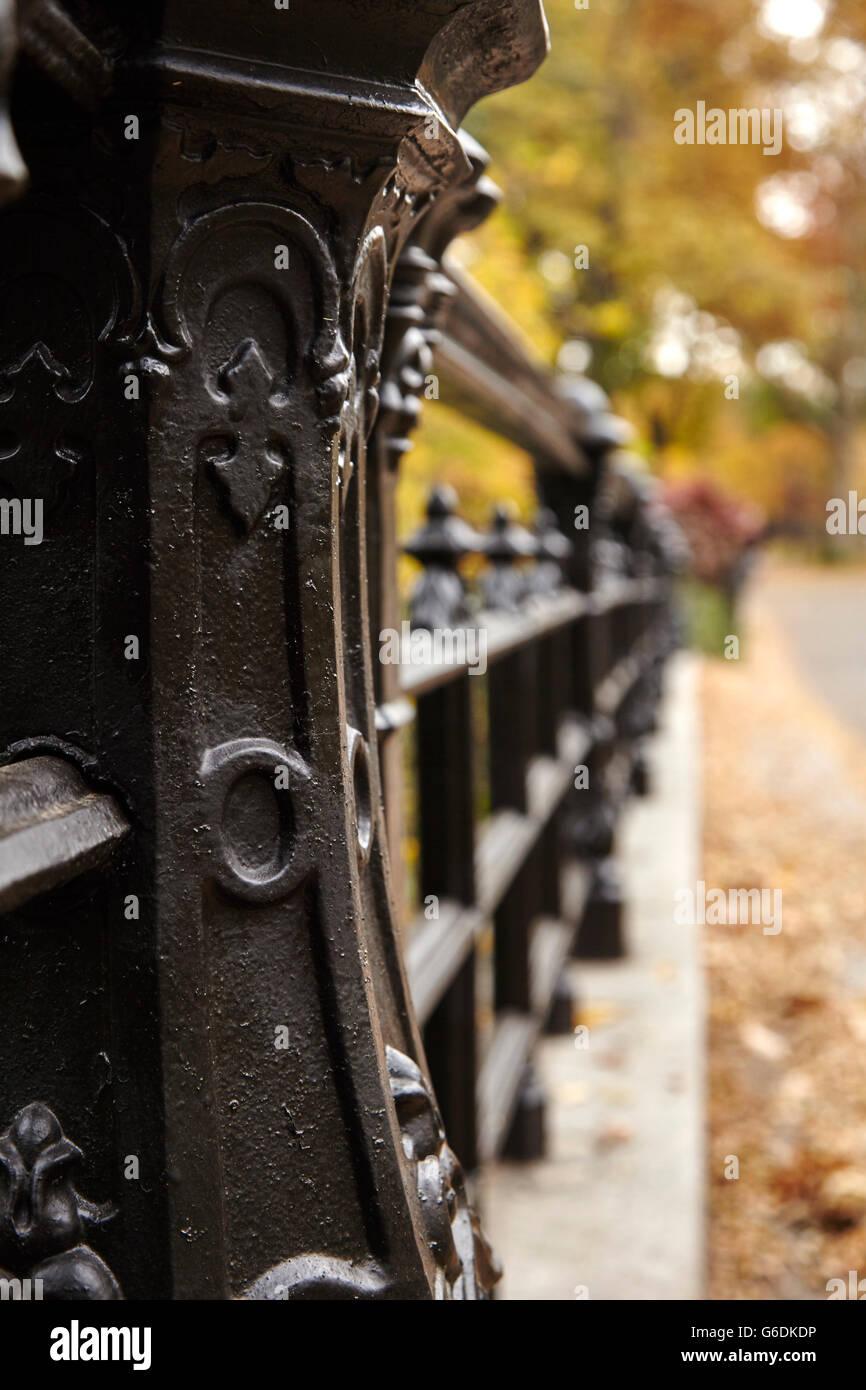 Central Park Brücke hautnah Stockbild